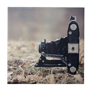 Old folding camera ceramic tile
