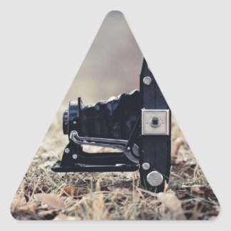 Old folding camera triangle sticker