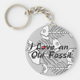 Old Fossil Keychain