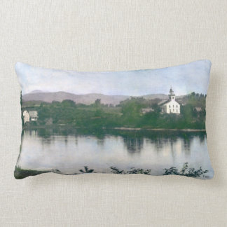 Old Free Meeting House at Bingham, Maine Lumbar Pillow