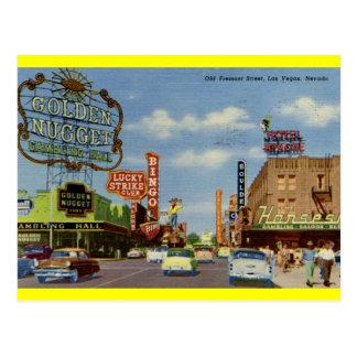 Old Fremont St., Las Vegas Vintage Postcard