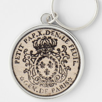 Old French Document Keychain