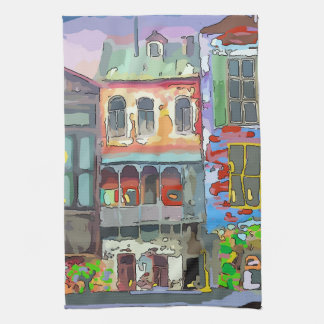 Old French Quarter Houses Kitchen Towels