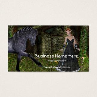 'Old Friends' - Elf & Black Horse Business Cards