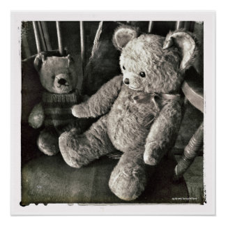 Old Friends Teddy Bear Perfect Poster
