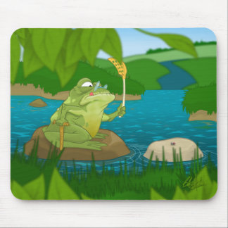 Old frog mouse pad