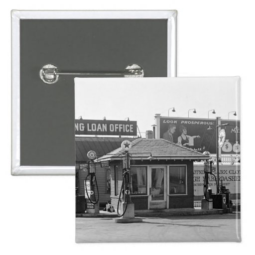 Old Gas Station, 1920s Pin