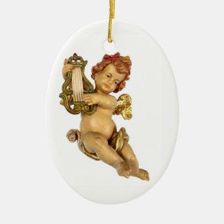 Old German Cherub Ceramic Ornament