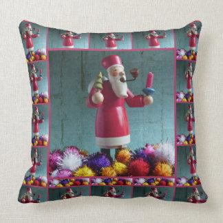 Old german Incense Smoker, Santa Claus 2.2 Throw Pillow