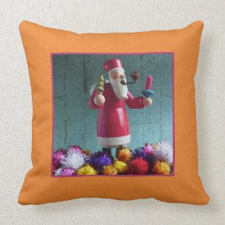 Old german Incense Smoker, Santa Claus 2.5 Throw Pillow