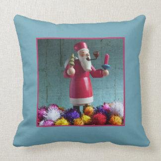 Old german Incense Smoker, Santa Claus Throw Pillow