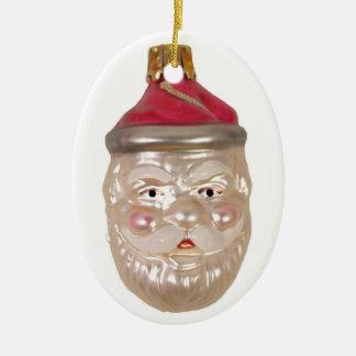 Old German Santa Claus Ceramic Ornament