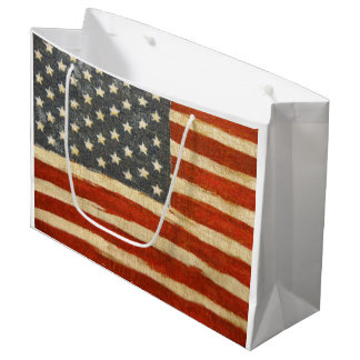 Old Glory American Flag Large Gift Bag