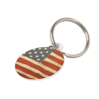Old Glory American Flag Pet Tag