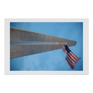Old Glory and Washington Monument Poster