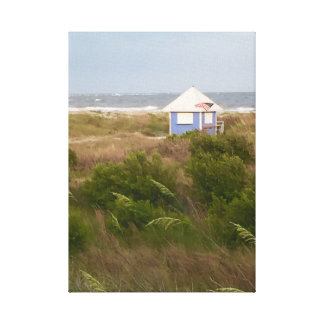 Old Glory at the Beach Canvas Print