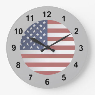 Old Glory Choose your background color. Large Clock