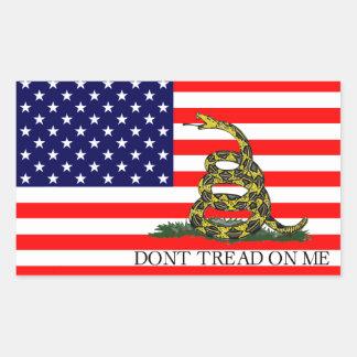 Old Glory / Gadsden Flag Combo Sticker