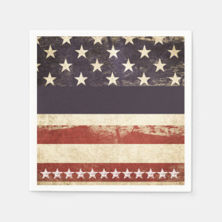 Old Glory July 4th Party Paper Napkins