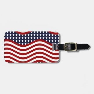 OLD GLORY! (patriotic flag design) ~ Bag Tag