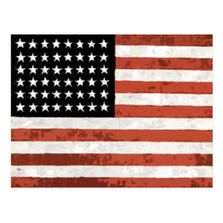 Old Glory Rustic Postcards