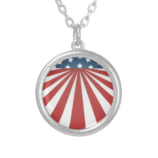 old glory silver plated necklace