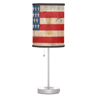 Old glory Stars Stripes distressed american flag Table Lamp