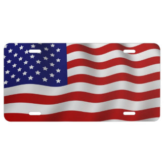 """Old Glory"" The American flag License Plate"
