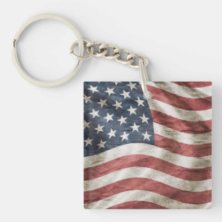 Old Glory US Flag Red, White and Blue Keychain