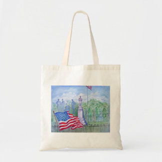 Old Glory Waves for Freedom Tote Bag