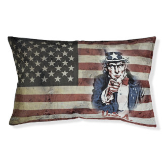 Old Glory with Uncle Sam Small Dog Bed