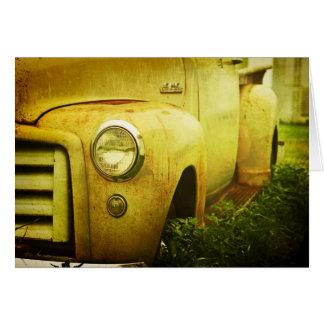 Old GMC Truck Card