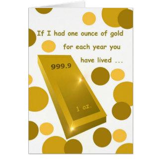 Old Gold Birthday, Humor Card