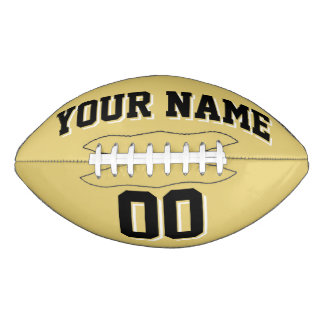 OLD GOLD BLACK AND WHITE Custom Football