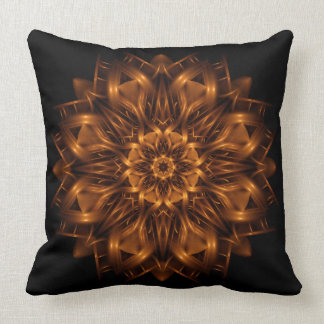 Old Gold Copper Medallion Throw Pillow