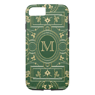 Old Gold Emerald Monogram iPhone 7 Case