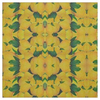 Old Gold Lemons Fabric