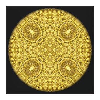 """Old Gold"" Mandala Canvas Print"