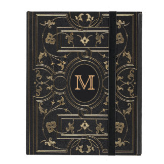 Old Gold Monogram iPad Folio Cover