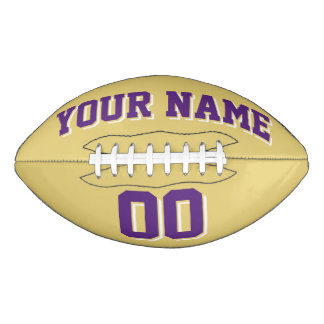 OLD GOLD PURPLE AND WHITE Custom Football