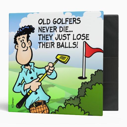 Old Golfer Binder