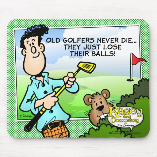 Old Golfer Mousepad