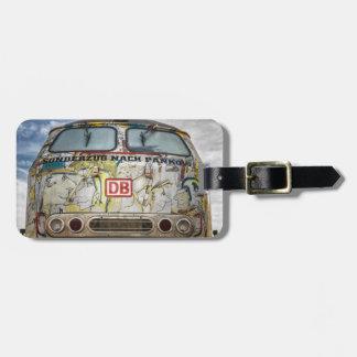 Old graffiti truck bag tag