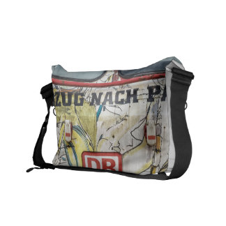 Old graffiti truck courier bags