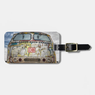 Old graffiti truck luggage tag
