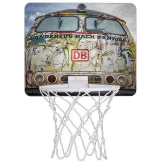 Old graffiti truck mini basketball backboard