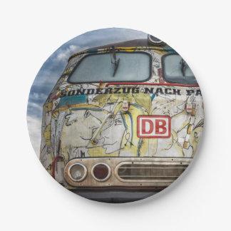 Old graffiti truck paper plate