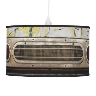 Old graffiti truck pendant lamp