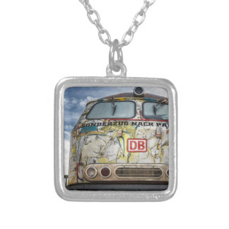 Old graffiti truck silver plated necklace
