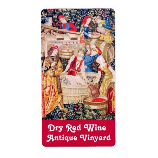 OLD GRAPE VINEYARD HARVEST AND RED WINE BARRELS